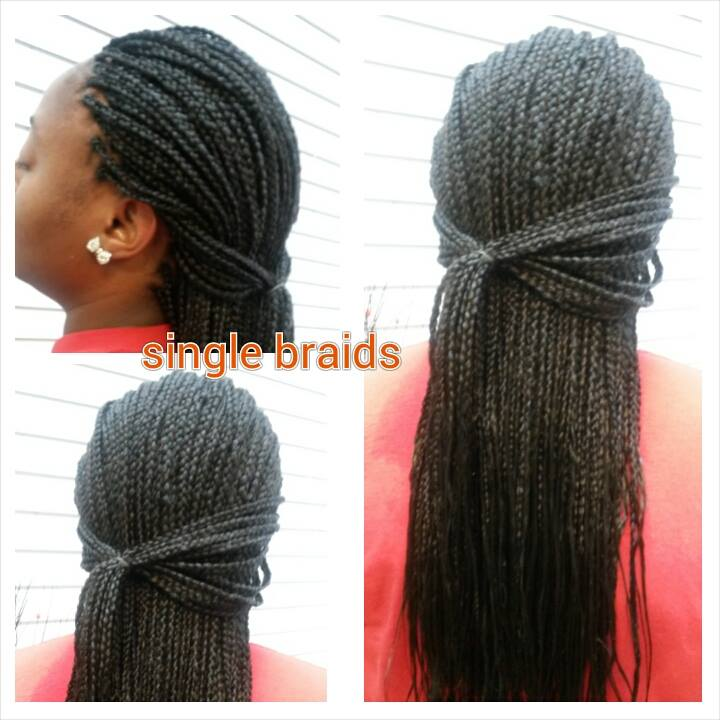 Single Box Braids Authentic African Hair Braiding